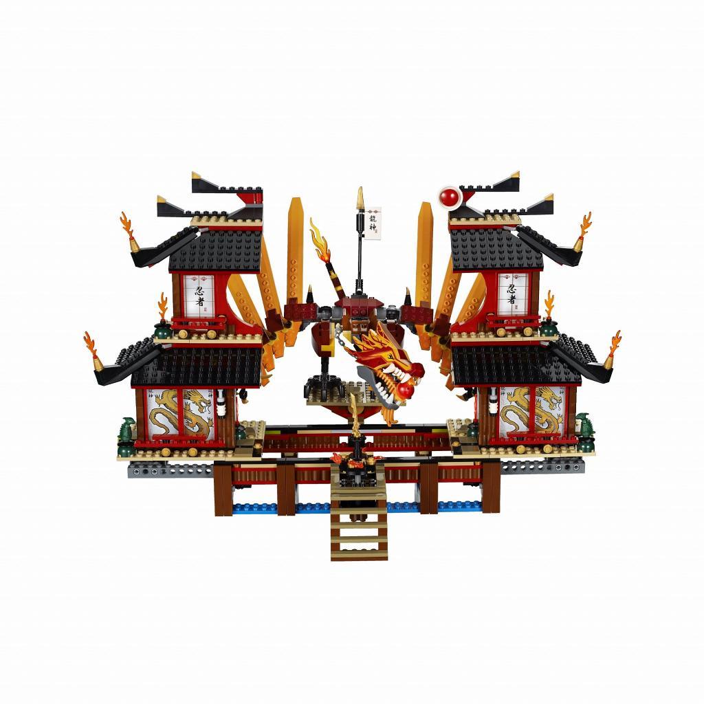 Lego Ninjago Toys : Bricker construction toy by lego fire temple