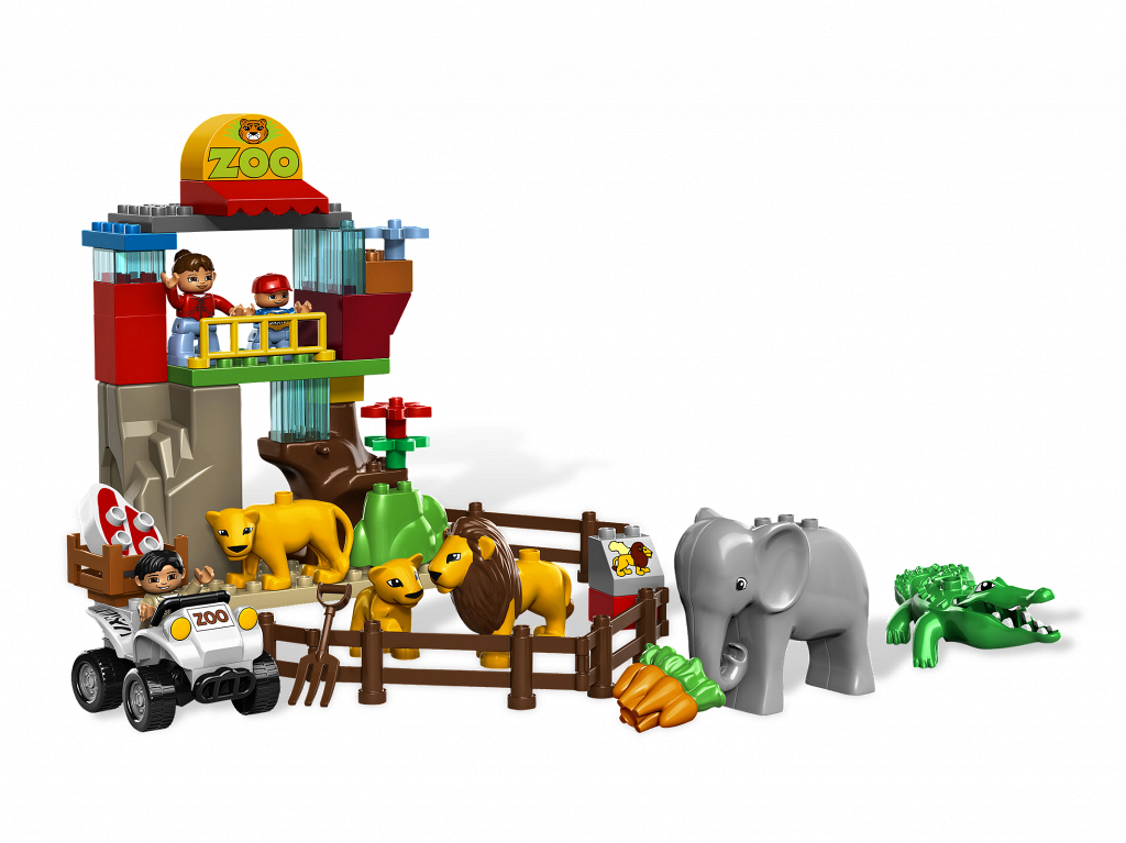 Bricker Construction Toy By Lego 5634 Feeding Zoo