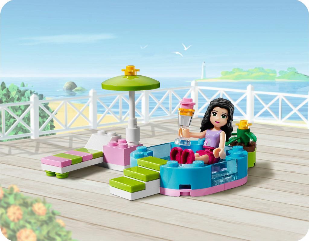 Bricker construction toy by lego 3931 emma s splash pool for Piscina lego friends