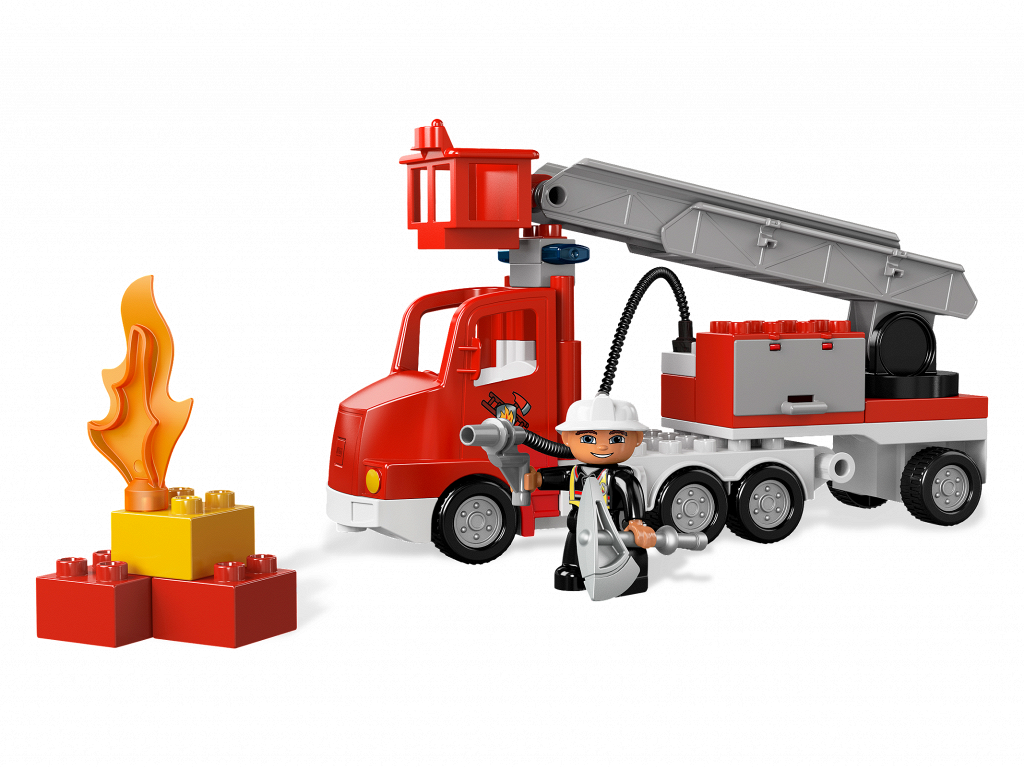 Bricker Construction Toy By Lego 5682 Fire Truck