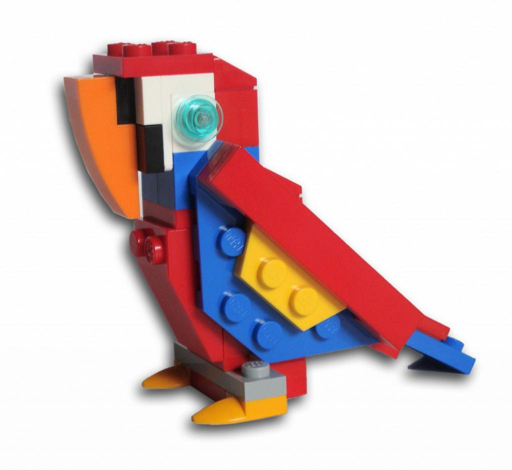 Как сделать из лего попугая