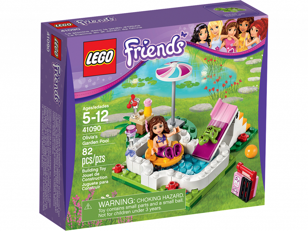 Bricker lego 41090 for Lego friends olivia s garden pool 41090